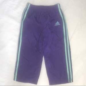 Toddler Purple Adidas Joggers